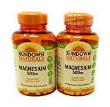 Sundown Naturals Magnesium 500 Mg Caplets Value Size, 180 Count, (Pack of 2) Review