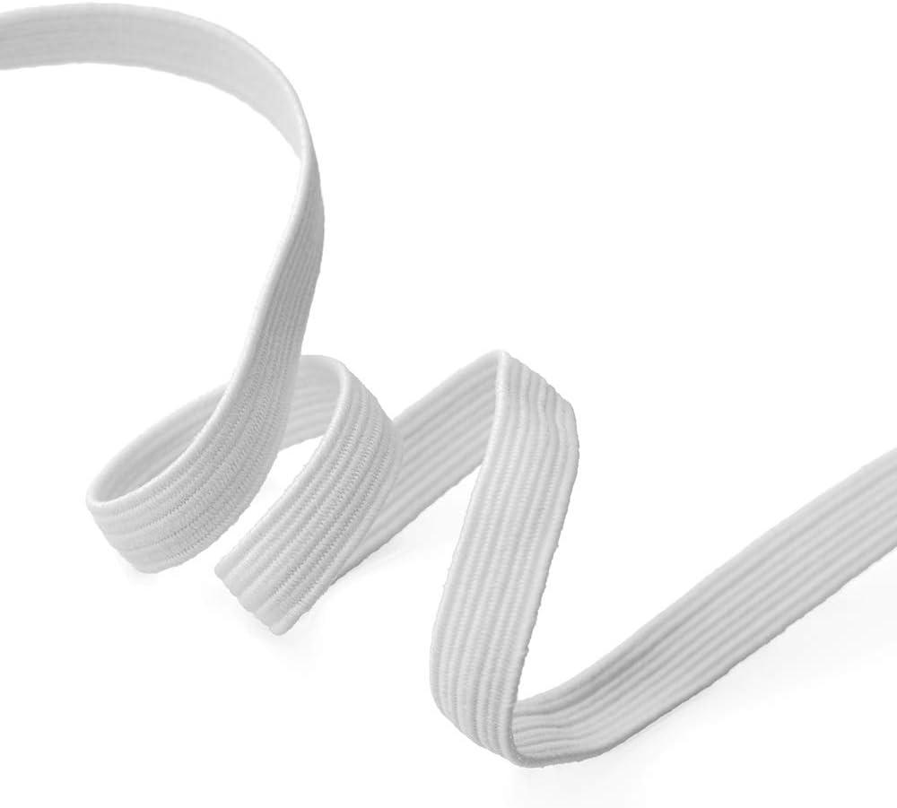Black 24mm Elastic Stretch Flat Band Trim 1 Mask Band by 5-Yards SP-2715