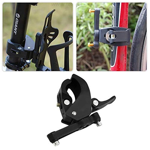 Black Plastic MTB Bicycle Water Bottle Holder Cage with Quick Release Clamp Bike