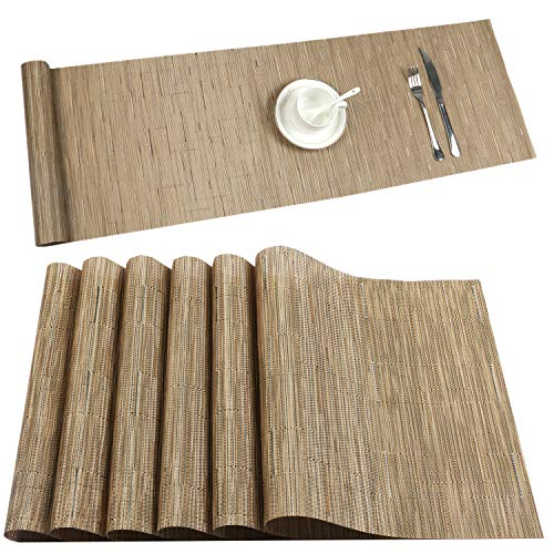 U'Artlines Placemat with Compatible Table Runner, Crossweave for sale  Delivered anywhere in USA