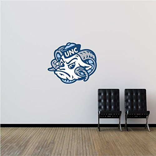North Carolina Tar Heels NCAA USA Face Logo College Sport Art Wall Decor Sticker 25'' x 21'' by postteam