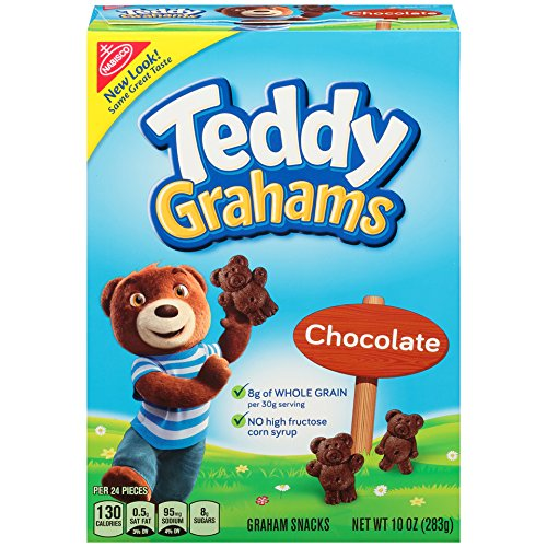 Teddy Grahams Crackers, (Chocolate, 10-Ounce Boxes, 6-Pack)