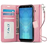 J&D Case Compatible for Galaxy A6 2018 Case, [Wallet Stand] [Slim Fit] Heavy Duty Protective Shock Resistant Flip Cover Wallet Case for Samsung Galaxy A6 2018 Wallet Case – [Not for A6 Plus 2018]