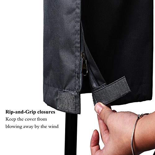 PATIO PLUS Rotary W/äscheleine Abdeckung wasserdichte W/äscheleine Abdeckung W/äschest/änder Mit Rei/ßverschluss 600D Oxford PVC-Beschichtung 16x16x165cm