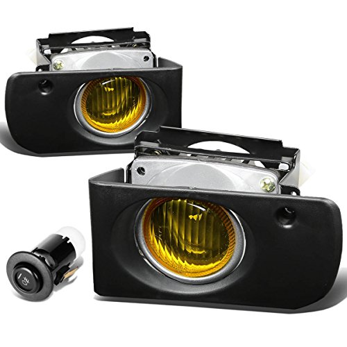 Acura Integra Replacement Parts - For Acura Integra Driving Bumper Fog Light+Bulbs+Switch (Amber Lens) - DB DC