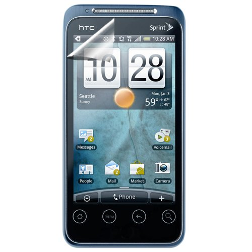 Hypercel Anti-Glare Screen Protector for HTC EVO Shift 4G - 1 Pack - Screen Protector - Retail Packaging - Clear