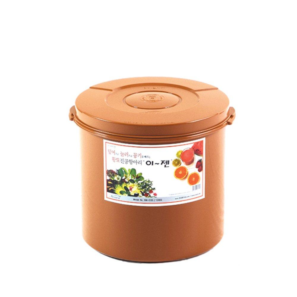 E-Jen Premium Kimchi, Sauerkraut Container Probiotic Fermentation with Inner Vacuum Lid Round (3.1 gal/ 12L) by e-jen