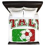 King Duvet Cover Italy Soccer Grunge Italian Flag