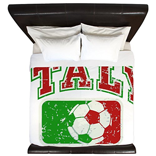 King Duvet Cover Italy Soccer Grunge Italian Flag by Royal Lion