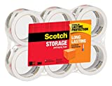 Scotch Long Lasting Storage Packaging Tape, 1.88 Inches x 54.6 Yards, 6 Rolls (3650-6)