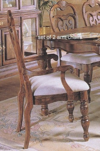 Set of 2 Westminster Preston Cherry Finish Dining Arm Chairs