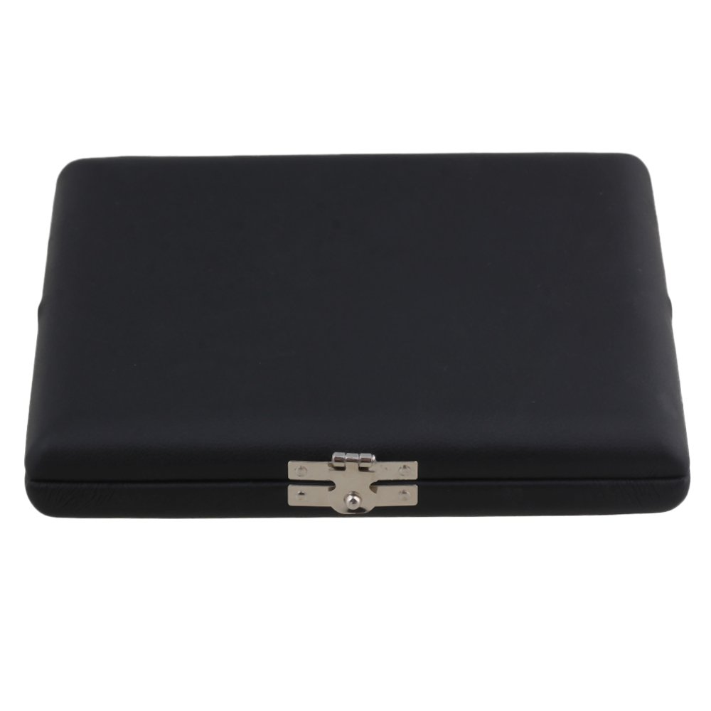 BQLZR Black PU Leather Oboe Reed Box Reed Case with Flannel Slot Inside for 10pcs Oboe Reeds