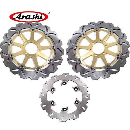 Yzf750 Front - Arashi For Yamaha YZF750R YZF750 SP 1993-1997 Front Rear Brake Disc Rotor Disk Kit Motorcycle Accessories YZF 750 R/SP YZF750 750R 750SP 1994 1995 1996 Gold