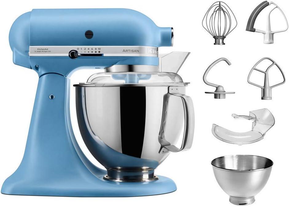 KitchenAid 5 ksm175psevb Robot de cocina 5 ksm175 4, 8 L Artisan Vintage Blue, acero inoxidable, color azul: Amazon.es
