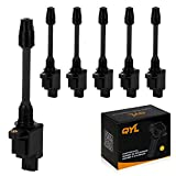 QYL Pack of 6 Rear Ignition Coil for 2000 2001 Nissan Maxima Infiniti I30 3.0L V6 UF348 UF586 5C1162 IC478 C1266