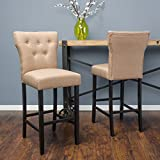 Christopher Knight Home 296643 Cadwallader Mocha Fabric Barstool (Set of 2) Review