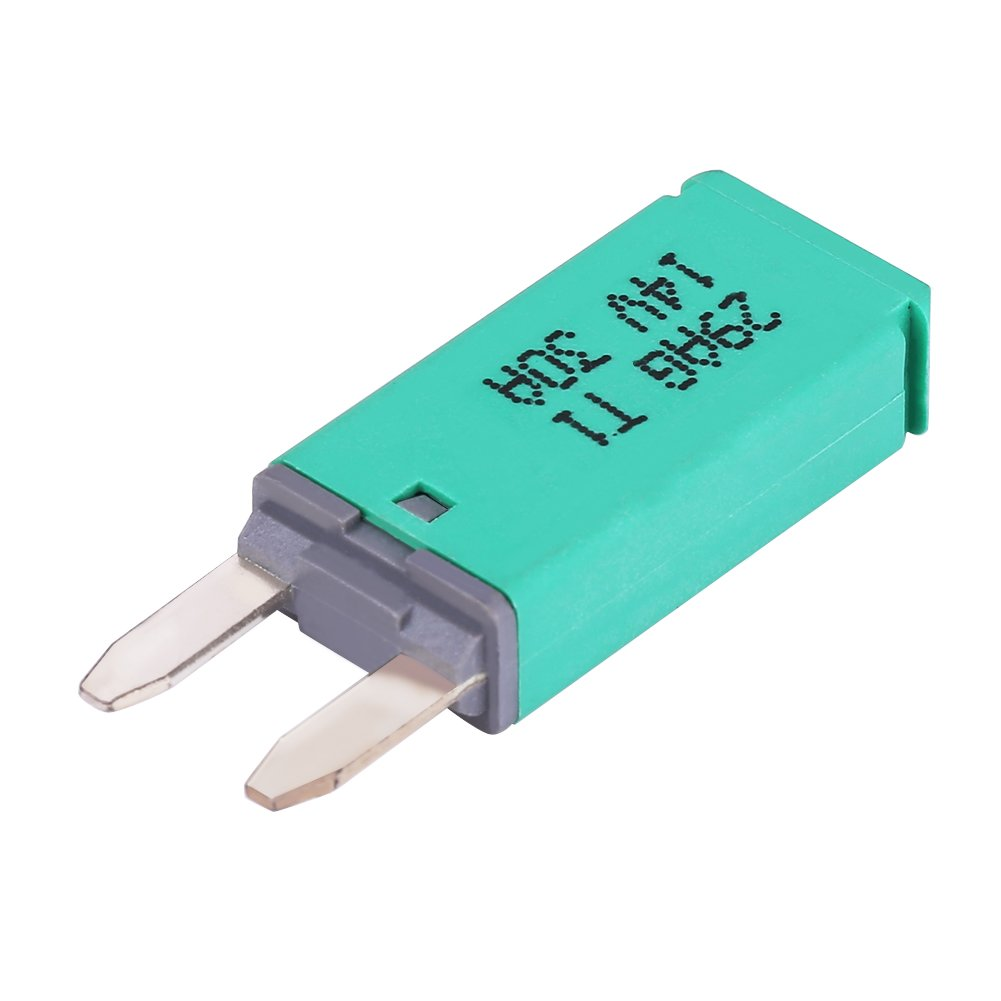 resettable circuit breaker green 30amp automatic reset 30a 14v dc