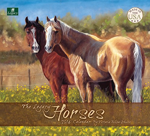 Legacy Publishing Group 2016 Wall Calendar, Horses (WCA19499)
