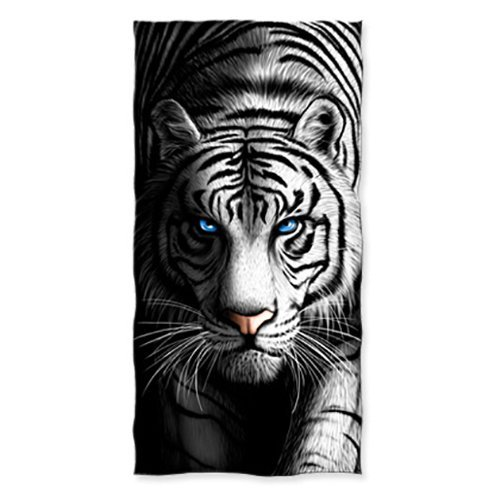 White Tiger Cotton Beach Towel DH-405