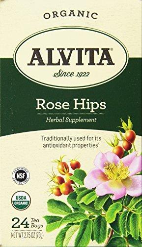 Alvita Organic Rose Hips Herbal Tea Bags, 24 Count by ()