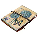 Vintage Retro PU Cover Loose Spiral A6 Journal Refillable Notebook Bandage Notepad Butterfly