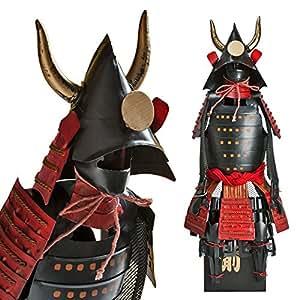 Samurai guerrero negro/rojo - OKuroda Clan Shogun Japanese Samurai Armor Estatua miniatura