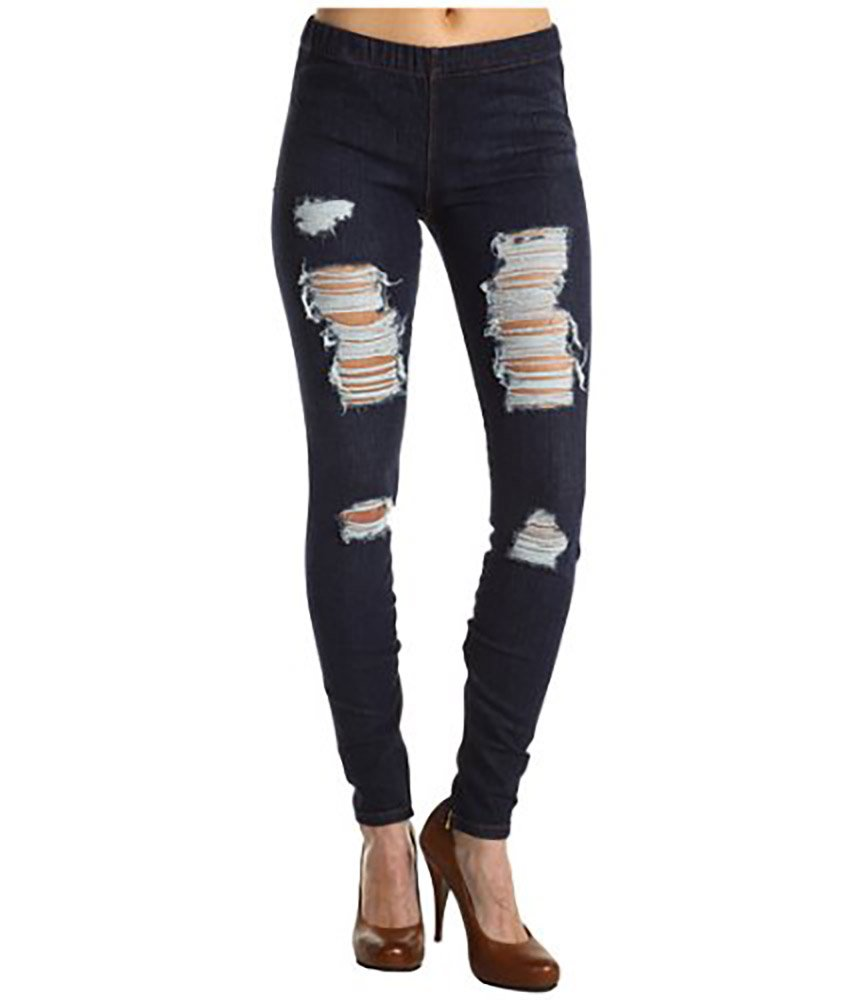 Joe's Jeans Women's Ripped The Jean Legging (SM (26/27) x 29, Dark Destroy)