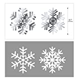 Snowflake Swirls Decoration(30pcs), Konsait Merry Christmas Snowflake Hanging Swirls Garland Foil Ceiling ornaments for Xmas Winter Wonderland Holiday Party Decor Supplies,Already Assembled