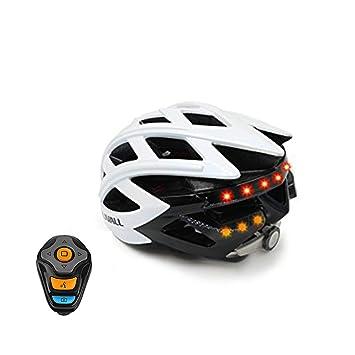 Casco De Bicicleta Inteligente, Piloto Trasero De Señal De Giro Inalámbrico, Altavoz Bluetooth,