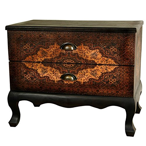 Oriental Furniture Olde-Worlde Euro Two Drawer Cabinet -