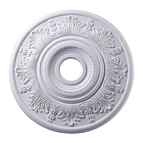 Elk M1004WH Laureldale Ceiling Medallion, 21-Inch, White Finish ()
