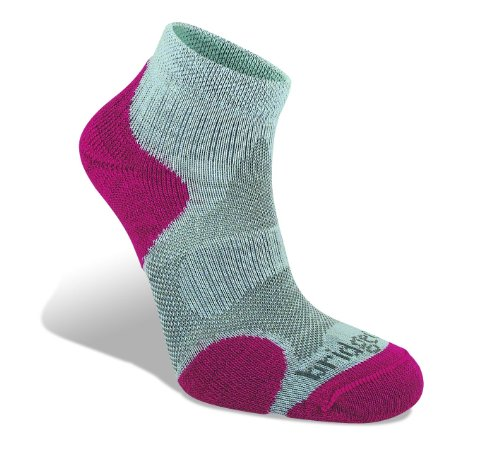 Bridgedale Women's CoolFusion Multisport Socks, Grey/Raspberry, Medium (Bridgedale Comfort Trail Sock)