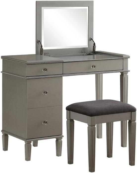 Linon Vanity Set, Brown