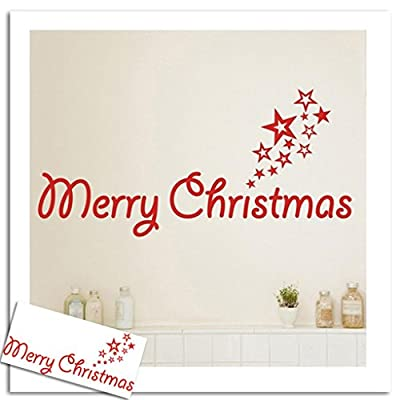 Iuhan Fashion Merry Christmas Wall Stickers Art Removable Home Vinyl Window Stickers