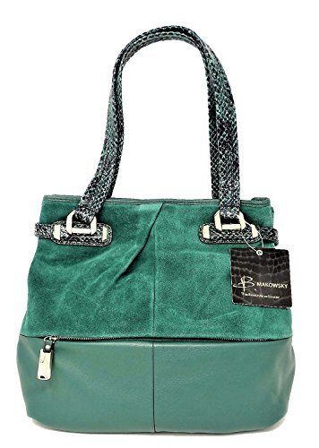B. Makowsky Women Handbags Tote, Emerald for sale  Delivered anywhere in USA