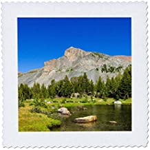 3dRose Danita Delimont - Mountains - Alpine tarn in Dana Meadows under Mt.Dana, Yosemite NP, California - 22x22 inch quilt square (qs_278628_9)