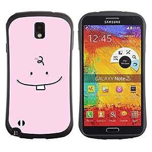 Suave TPU GEL Carcasa Funda Silicona Blando Estuche Caso de protección (para) Samsung Note 3 / CECELL Phone case / / Tooth Baby Minimalist Drawing Pink Cute /
