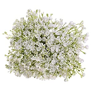 Wulofs Artificial Gypsophila Flower Fake Silk Wedding Party Bouquet Home Decor- Babysbreath 44