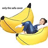 QuWei Bean Bags Chair Creative Cartoon Banana DIY Comfortable Mini Sofa Indoor/Outdoor Soft Floor Cushion