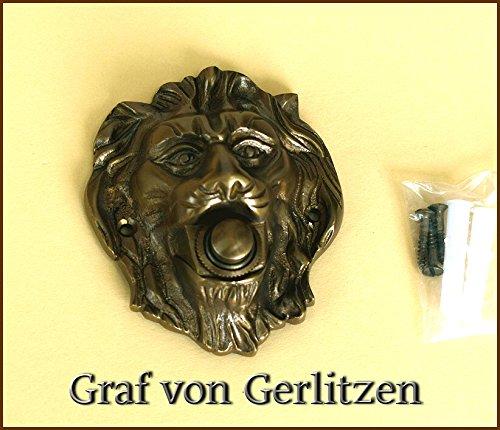 Graf von Gerlitzen Antik Messing Tü r Klingel 1 Tü rklingel Klingelschild Klingelplatte Lö we K70A