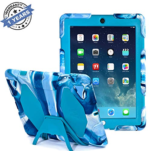 Ipad 2/3/4 Case, Kidspr Ipad CaseNewHot Super Protect [Shockproof] [Rainproof] [Sandproof] with Built-in Screen Protector for Apple Ipad 2/3/4 (Navy /Blue)
