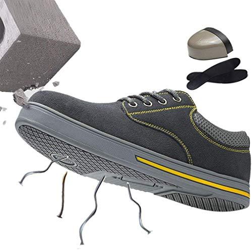 Grigio da Lavoro Leggere Antinfortunistiche Stringate Sportivo da Acciaio da Scarpe Ginnastica Scarpe in Sneaker e juqilu Trekking da Sport da Traspiranti Unisex Scarpe Lavoro xa8wnSWqgP