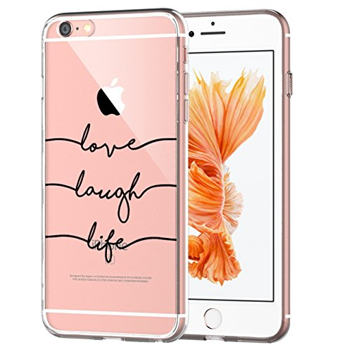 Case Compatible with iPhone 6s Plus, iPhone 6 Plus Case Girl Floral Design Transparent TPU Cover (not for iPhone6 / 6s!) (16)