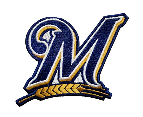 (Brewers Baseball Fully Embroidered Iron On Patch InspireMe Family Owned (3.75