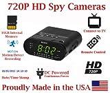SecureGuard HD 720p Personal Home Alarm Clock Radio Spy Camera Covert Hidden Nanny Camera Spy Gadget