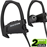 ZEUS Wireless Bluetooth Headphones NEW m. 2018 - Best Workout Earbuds - IPX5 - Running Headphones - Sports Headphones - Bluetooth Earbuds w/Mic Noise Cancelling Headphones - Wireless (Premium Black)