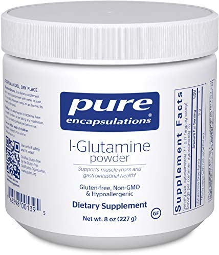 Pure Encapsulations – l-Glutamine Powder – Hypoallergenic Supplement Supports Muscle Mass and Gastrointestinal Tract – 8 Ounces