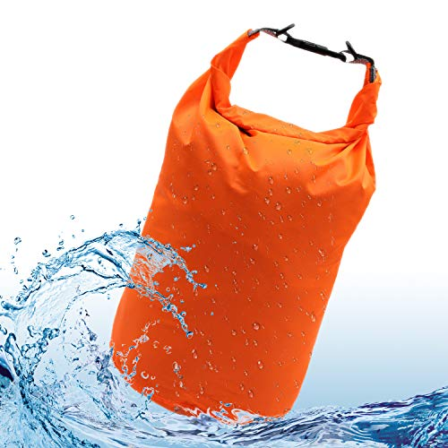 iOutdoor Products Dry Bag Waterproof 70L/40L/20L/10L/5L Lightweight Heavy Duty Dry Sack Waterproof Bags for Camping, Kayaking, Rafting, Boating, Swimming, Hiking, Beach, Fishing (Orange, 70L)