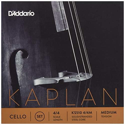 D'Addario Kaplan Cello String Set, 4/4 Scale, Medium Tension (String E Kaplan)