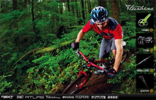 Race Face Turbine Mountain Bike Stem (Black, 31.8-mm Clamp, 6-Degreex90-mm, 1-1/8-Inch)